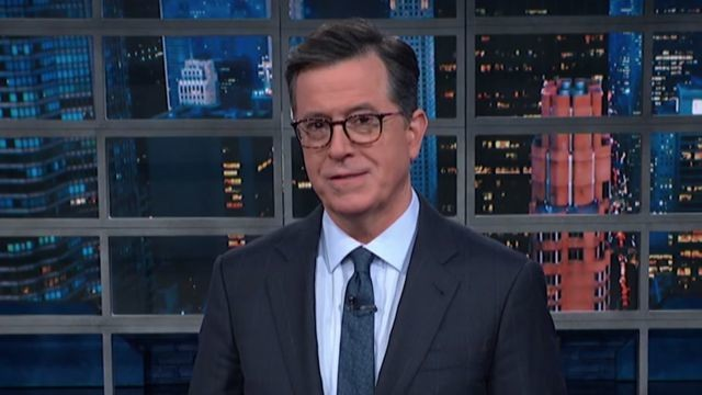 Stephen Colbert skewers Trump with a devastating burn during impeachment update