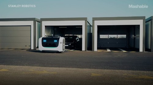 This fleet of robots is incredibly efficient at parking and stacking cars in a busy airport