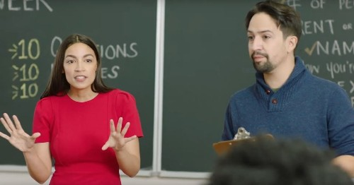 AOC and Lin-Manuel Miranda explain the importance of census participation in new PSA