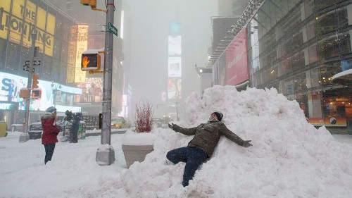 The East Coast snowstorm in photos