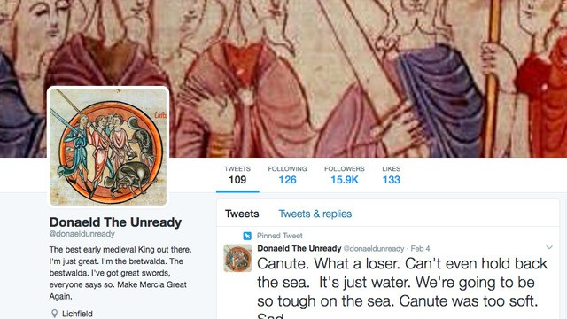 Trump becomes a mad medieval king in this brilliant Twitter parody