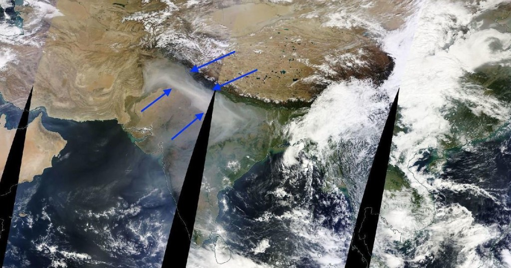 The smog smothering India is so thick you can actually see it from space