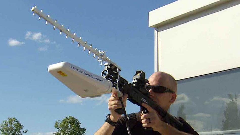 This gun can stop small rogue drones without destroying them