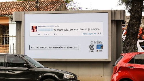 Anti-racism group shames online trolls with billboards IRL