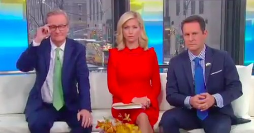 Watching these Fox News hosts deflate while listening to Trump is oddly satisfying