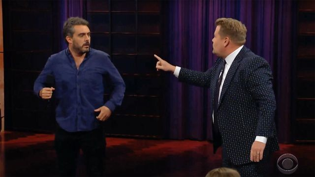 James Corden's audience Q&A descends into chaos after guest does brutal impression of him