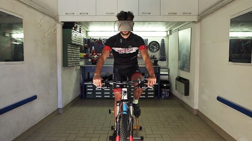 This virtual reality system takes your cycling workouts to the streets