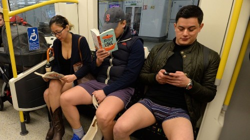 Another year, another day of no one wearing trousers on London's tube