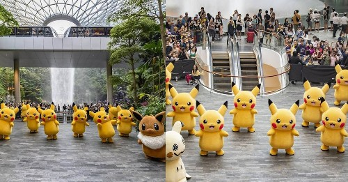 If you're at Singapore's Jewel Changi Airport, be sure to catch the Pokémon Parade - Culture - Mashable SEA