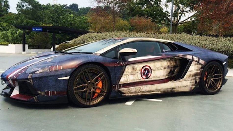 Cruise down the block in your very own superhero car