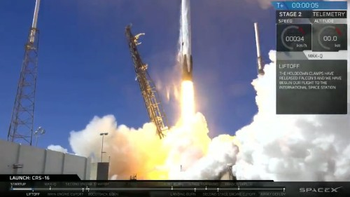 SpaceX successfully launches to the space station but misses the landing