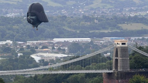 The Force is definitely strong with this Darth Vader hot air balloon