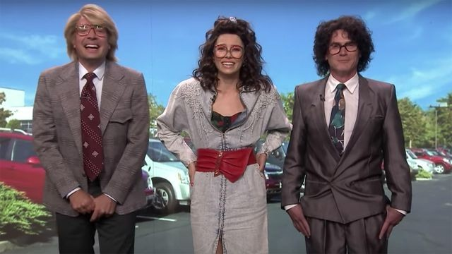 Jessica Biel and Jimmy Fallon keep cracking up during ridiculous spoof car commercial