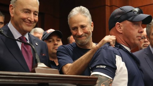 Jon Stewart celebrates passage of 9/11 compensation bill: 'The honor of my life'