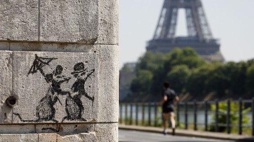 Banksy is back with 9 new fiery murals in Paris
