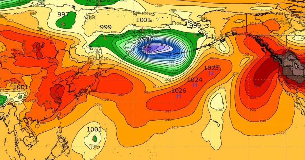 A massive storm is on the prowl in the Bering Sea, and it's altering U.S. weather patterns