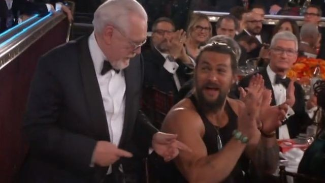 Jason Momoa, we see you wearing a tank top at the Golden Globes