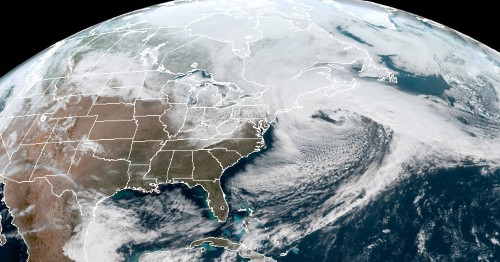 The New England blizzard looks like a monster from space