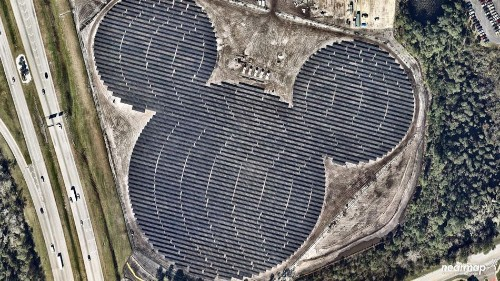 Disney's solar farm looks like Mickey Mouse because of course it does
