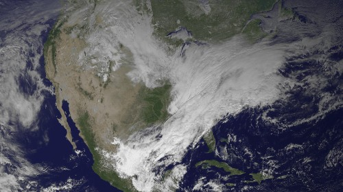 Chilling NASA Image Shows White-Out Winter Storm From Space
