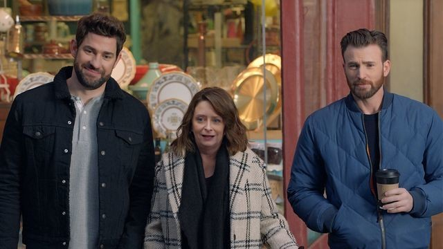 Watch wicked hot Boston dudes Chris Evans and John Krasinski star in a delightful commercial