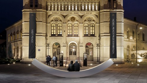 This 'peace bench' is meant to physically bring people together to converse
