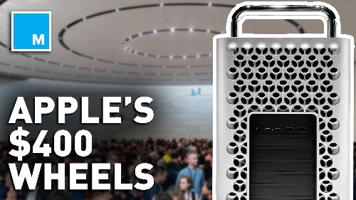 From the $999 stand to the $400 wheels, Apple is straight up trolling us