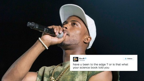 B.o.b. is positive the Earth is flat, offers photographic evidence
