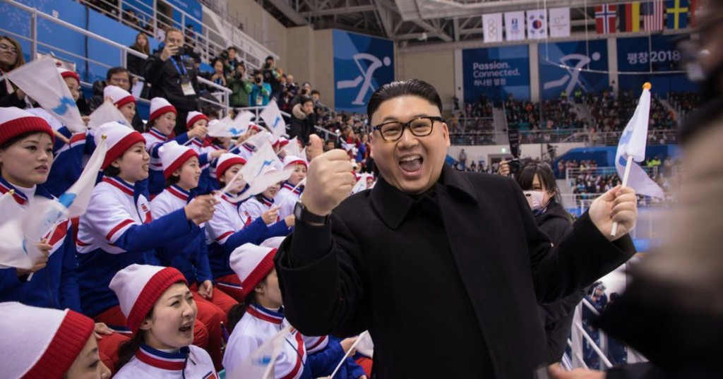 A fake Kim Jong-Un said hi to North Korean cheerleaders, who didn't take it well