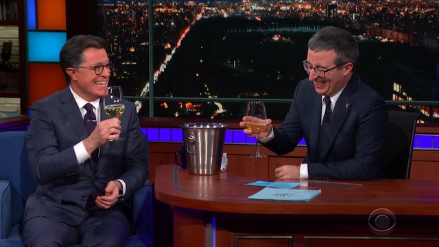 John Oliver interviews Stephen Colbert in the most delightful 'first date' ever