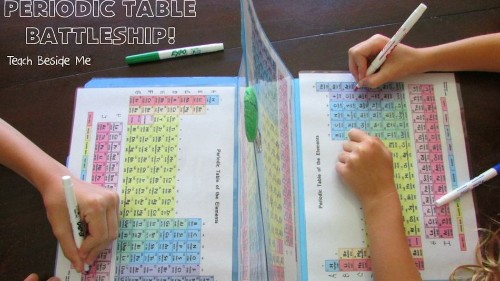 Queen of Moms makes Periodic Table of the Elements Battleship for her kids