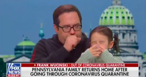 Man released from coronavirus quarantine can't stop coughing during Fox News interview