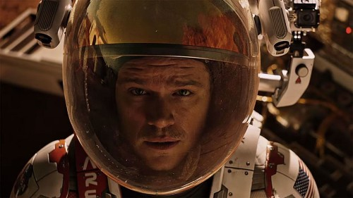 Space perks: Astronauts on the International Space Station watched 'The Martian'