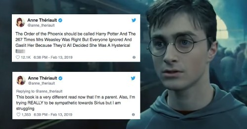 This 'Harry Potter' thread will make you see Molly Weasley and Sirius differently
