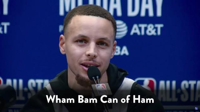 Jimmy Fallon made Steph Curry drop weird phrases into NBA All-Star interviews