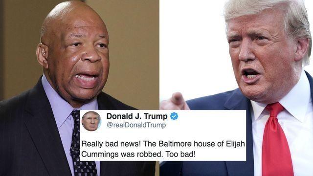 Beto O'Rourke, John Legend, and more slam Trump's gross tweet about Elijah Cummings home break-in