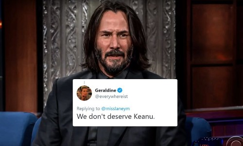 Keanu Reeves' Thoughts On Life After Death Stunned Stephen Colbert And the Internet