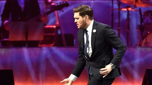 Watch a security officer nail 'At Last' after Michael Bublé hands her the mic