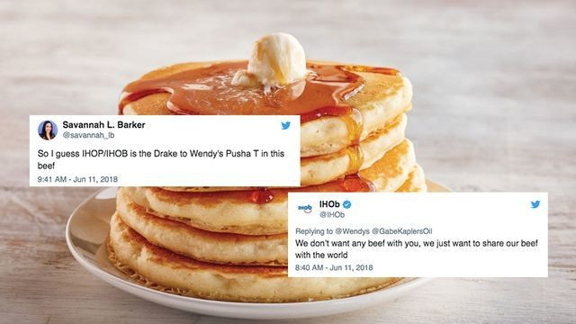 Wendy's burned IHOb so hard with this pancake diss