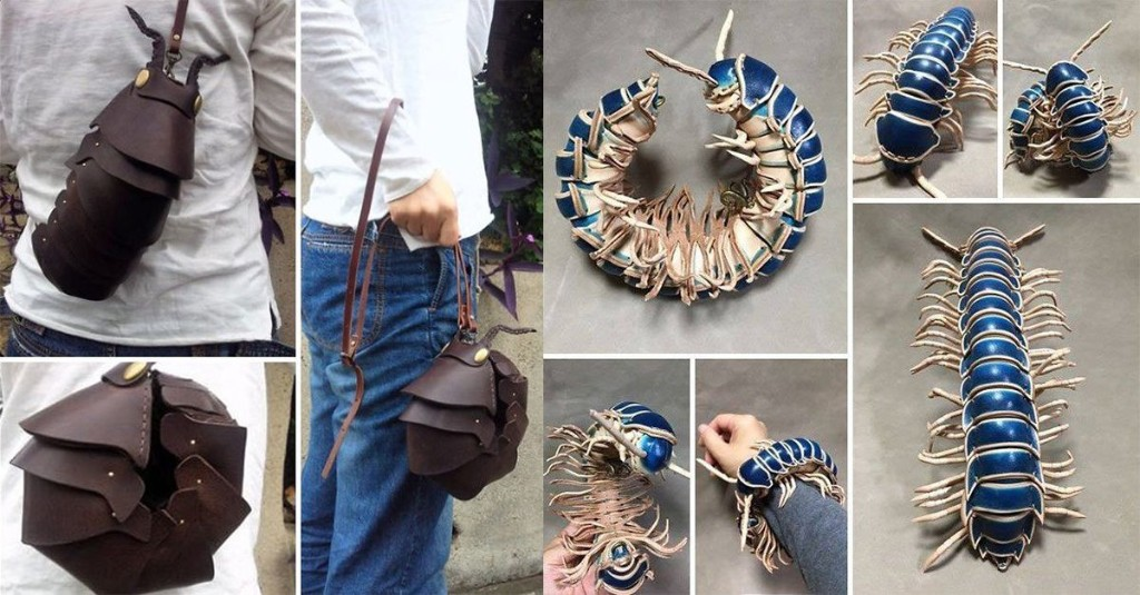 Talented artist creates leather accessories of insects that are super lifelike