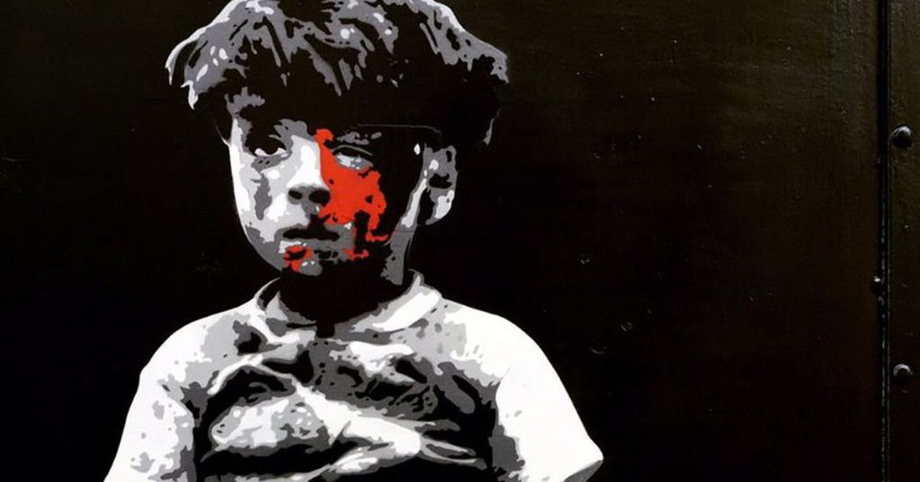 London street artist paints heartbreaking tribute to 5-year-old Syrian boy
