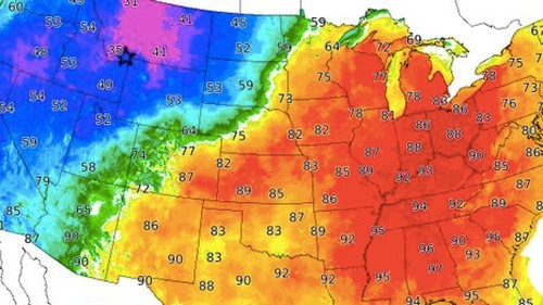 Why the U.S. will see starkly different, unusual temperatures this weekend