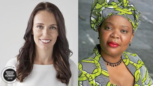 New Zealand Prime Minister Jacinda Ardern & Nobel Peace Laureate Leymah Gbowee join 2018 Social Good Summit lineup