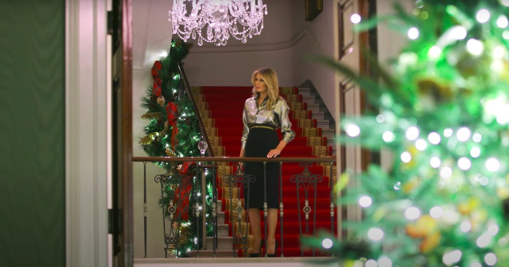 2020: Melania Trump unveils her final White House Christmas decorations and they're fine