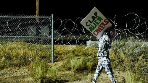 Alien memes are back in action as people gather near Area 51
