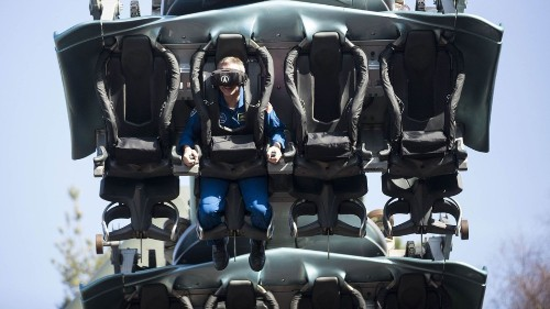 I hurtled through space on a VR roller coaster and it was intense