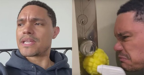 Trevor Noah's hectic home cleaning montage is the motivation we need right now