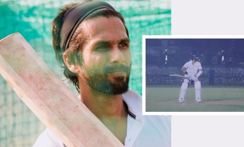 Watch Shahid Kapoor Hit The Ball For A Boundary During Prep For 'Jersey' Remake - Entertainment