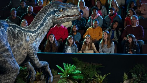 'Jurassic World' tour unveils massive model T-Rex