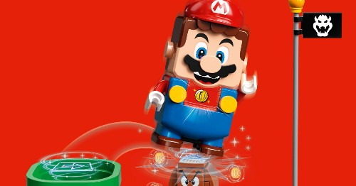 Nintendo and Lego team up for a cool, gamified Lego Super Mario set